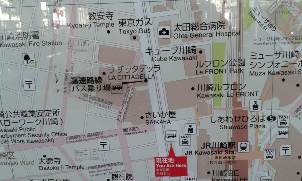 Stadtplan von Kawasaki.
